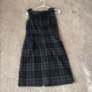 Connected green purple plaid dress size 8
